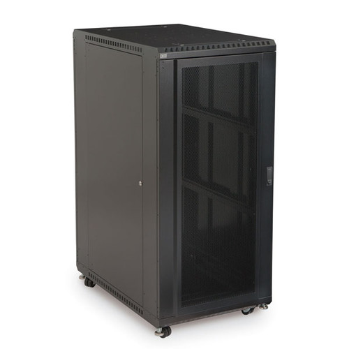 "Kendall Howard 3102-3-001-27 - 27U LINIER Server Cabinet - Convex/Glass Doors - 36"" Depth"