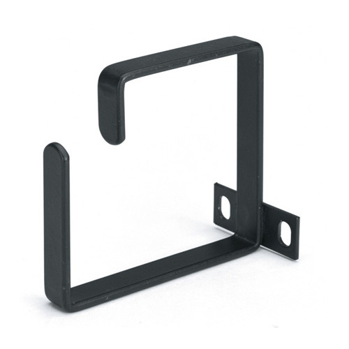 1u Steel Black D-ring Cable Manager