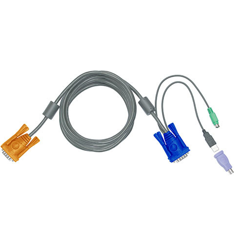 15' Combo 3-in-1 KVM Cable