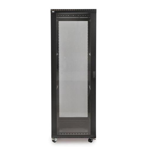 "Kendall Howard 3100-3-024-37 - 37U LINIER Server Cabinet - Glass/Vented Doors - 24"" Depth"