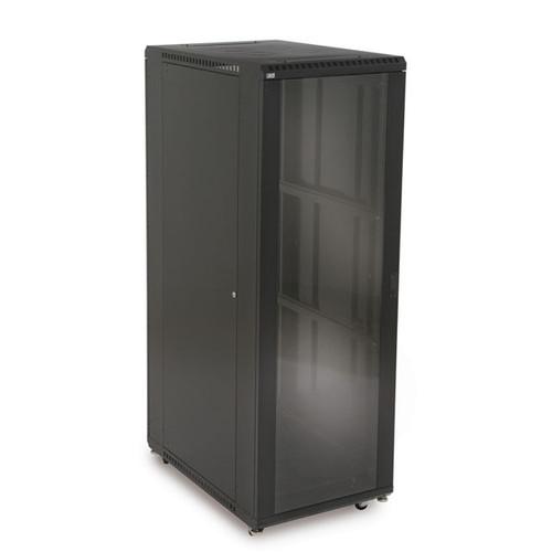 "Kendall Howard 3101-3-001-37 - 37U LINIER Server Cabinet - Glass/Solid Doors - 36"" Depth"