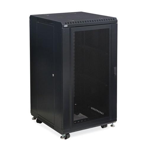 "Kendall Howard 3102-3-024-22 - 22U LINIER Server Cabinet - Convex/Glass Doors - 24"" Depth"