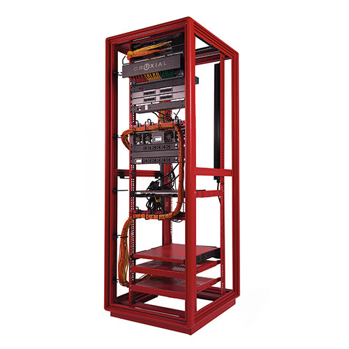 """NET7319-2430 42u Cruxial 4 post network server rack with 4-6"""" cabling space"""