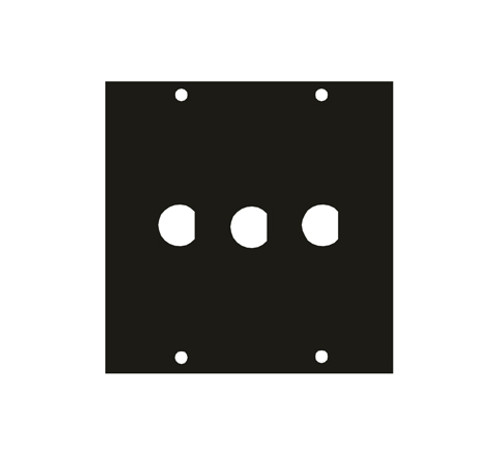 "UCP Module Three .5"" BNC Punchouts 1/2BNC3"