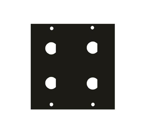 """UCP Module Four .5"""" BNC Punchouts 1/2BNC4"""