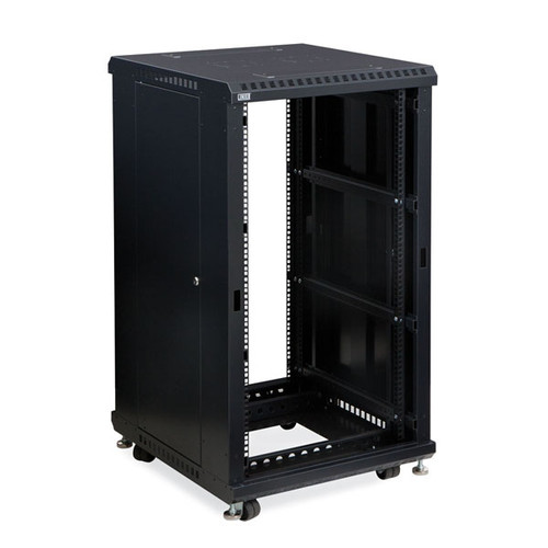 "Kendall Howard 3180-3-024-22 - 22U LINIER Open Frame Server Rack - No Doors - 24"" Depth"