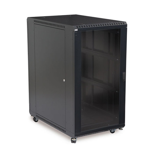 "Kendall Howard 3101-3-001-22 - 22U LINIER Server Cabinet - Glass/Solid Doors - 36"" Depth"