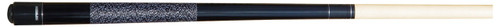 This classic-looking pool cue is made for kids! Your child, or children, will love their very own 2-piece junior pool cue. This cue has a black-stained forearm and butt sleeve. This butt is wrapped with black and white nylon wraps. The cue has an Implex joint and a black butt cap. The medium-hard tip resembles a Le Pro, and is on a 13mm ferrule. The hard rock maple shaft has a pro taper.