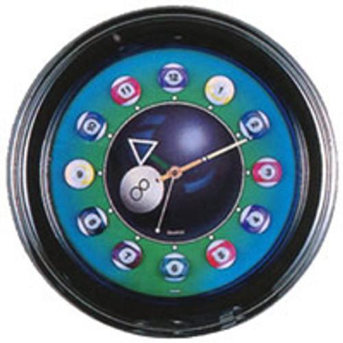 Billiard Ball Neon Clock