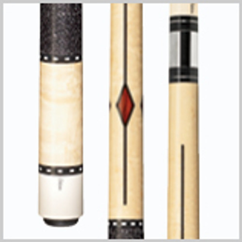 "•    Standard 58"" cues     •    Available in 19-21 oz.     •    Cue butts are built on a hybrid core of laminated woods     •    Elephant Ivory, Ebony and other exotic wood inlays     •    Phenolic-lined stainless steel joint collars     •    Stainless steel pins     •    Butt plates are made out of nearly-indestructible Delrin     •    Piloted joints mate with phenolic cushioned brass shaft inserts     •    Shafts and cue butts are perfectly matched during manufacturing, giving that distinctive Schon hit"