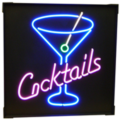 """""""Cocktails"""" Neon Sign"""