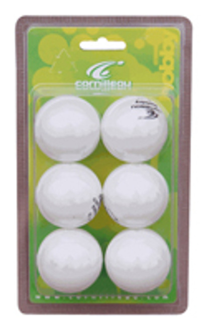 Cornilleau Hobby Table Tennis Balls ¿ 40MM White 6/pk
