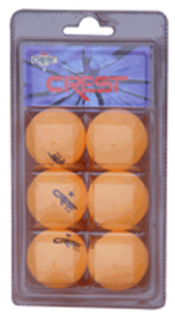 Crest 6/pk Orange One Star Table Tennis Balls