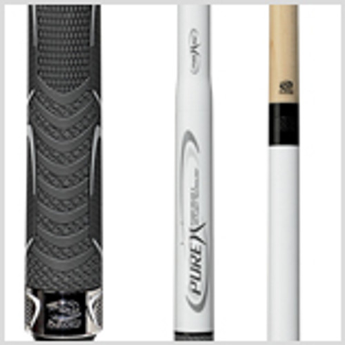 "The new Players Pure X Jump Break Cue gives you ultimate control over your game, with three interchangeable quick release joints that let you pick your perfect shot--use just the forward Air Flight portion with ergonomic flared handle for super-short vertical shots, add the jump extender for longer shots, combine the Air Flight + Power Driver for more torque and leverage, or go full-length with the Air Flight + Long Jump + Power Driver for explosive breaks. Make those ""impossible"" shots look easy.Wood: 100% North American Grade A Hard Rock Maple   Joint: Carbon Fiber  Tip: XLG Quad Face   Weight: Standardized weighting system 18oz-21oz available   Butt cap: Acid-etched stainless steel"