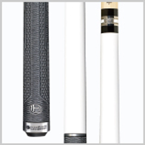 This sleek and simple cue was designed specially for Lucasi Hybrid Professional and Two-time World Champion Thorsten Hohmann. It features an understated Titanium White forearm and back-end loaded Lucasi Hybrid Fusion grip wrap, as well as an etched stainless steel joint and butt cap. Wood: Maple  Joint: Stainless steel with Uni-Loc® system  Joint Rings: None  Weight: Standardized weighting system 18oz-21oz available   Butt construction: 4-piece for an extremely solid hit   Butt cap: Slimline etched stainless steel