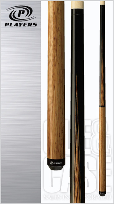 Sleek and simple Maple/Zebrawood half-and-half design jump/break cue with Zebrawood points, two quick-release joints, black Implex collar and sleek wrapless handle.Wood: North American Grade A Hard Rock Maple, Zebrawood   Joint: Black Implex  Tip: Super hard jump break   Weight: Standardized weighting system 18oz-21oz available   Butt cap: Black Implex