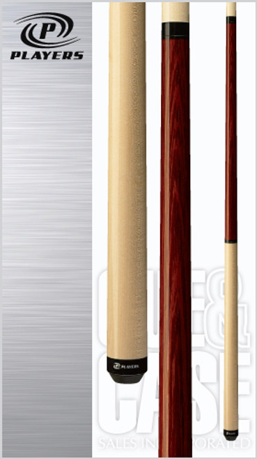 Sleek and simple natural Maple/Rengas half-and-half design jump/break cue with two quick-release joints, black Implex collar and sleek wrapless handle.Wood: North American Grade A Hard Rock Maple, Rengas   Joint: Black Implex  Tip: Super Hard Jump   Weight: Standardized weighting system 18oz-21oz available   Butt cap: Black Implex