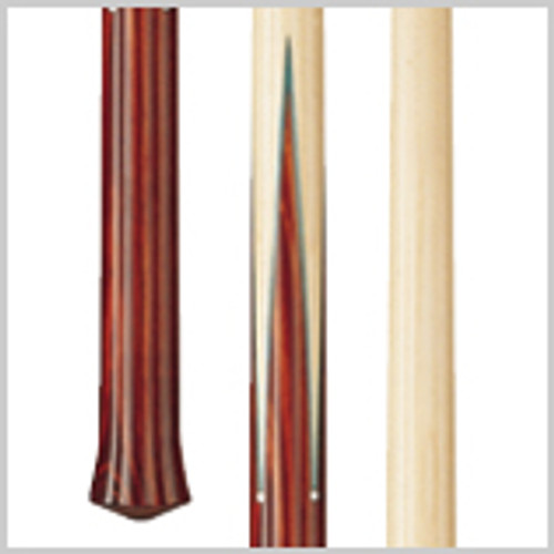 Wood: Cocobola, Maple  Joint: Wood-to-wood Uni-loc® Tip: Super-hard bakelite  Weight: Standardized weighting system 18oz-21oz available  Butt: Cocobola