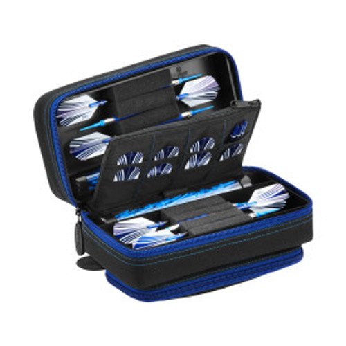 Casemaster Plazma Pro Dart Case Black with Sapphire Zipper and Phone Pocket