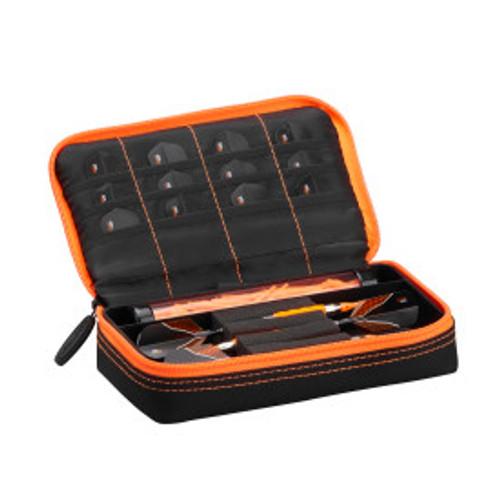 Casemaster Plazma Dart Case Black with Orange Zipper