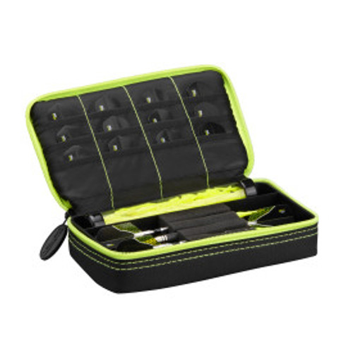 Casemaster Plazma Dart Case Black with Yellow Zipper