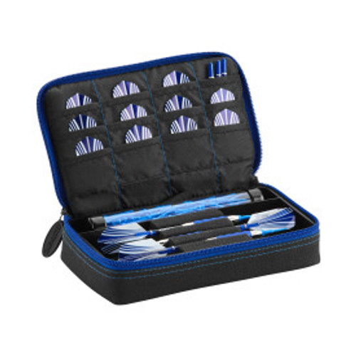 Casemaster Plazma Dart Case Black with Sapphire Zipper