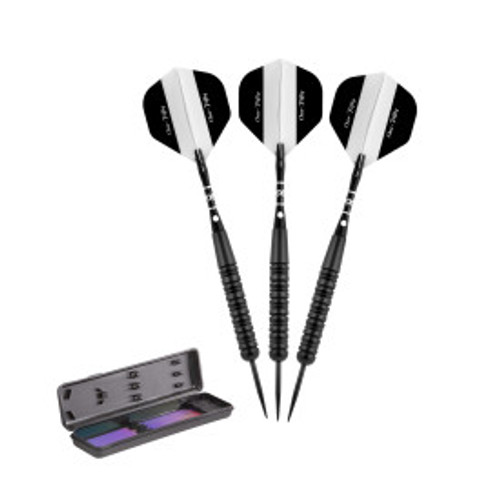 Elkadart Black 150 Jet Black Steel Tip Darts 22 Grams