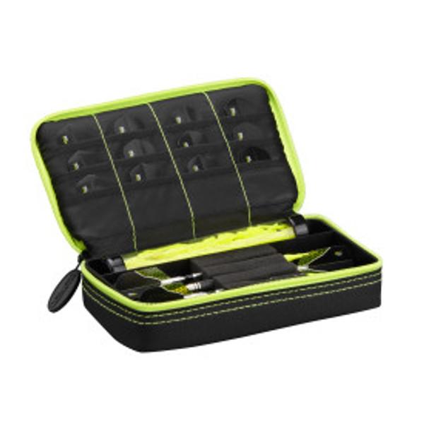 Casemaster Plazma Dart Case Black with Yellow Zipper