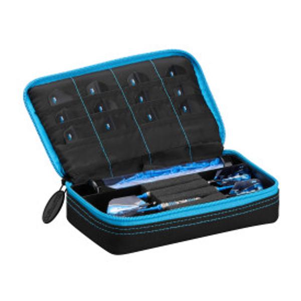 Casemaster Plazma Dart Case Black with Blue Zipper