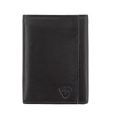 Datablock RFID-Blocking Leather Tri-fold Wallet