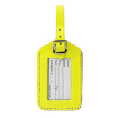 Neon Leather Luggage Tag
