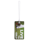 Live to Golf Luggage Tag