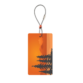 Travel Green Luggage Tags, Trees