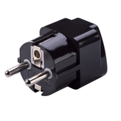 Grounded Schuko Adapter Plug (Europe/Asia)