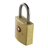 Travel Sentry Mini Padlocks, Brass Square