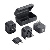 Adapter Plug Kit with Dual USB Charger