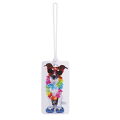 Dog With Lei Luggage Tag