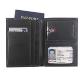 Deluxe RFID-Blocking Leather Passport Wallet