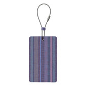 Travel Green Luggage Tag, Purple Stripe
