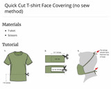 Marine Corps- How to make a cloth face mask out of uniform t-shirt.