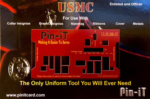 USMC Pin-iT Card, Military Uniform tools