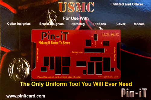 USMC Pin-iT Card, Military Uniform tools