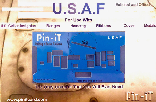 USAF Pin-iT Card, Military Uniform Tool