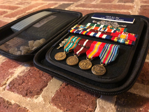 Military Awards and Ribbons Travel Case