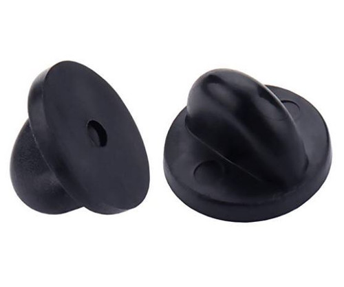 Pin Backs PVC Rubber Pin Keepers, Black