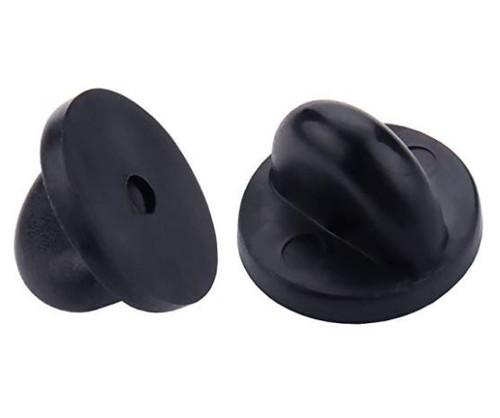 Pin Backs PVC Rubber Pin Keepers, Black