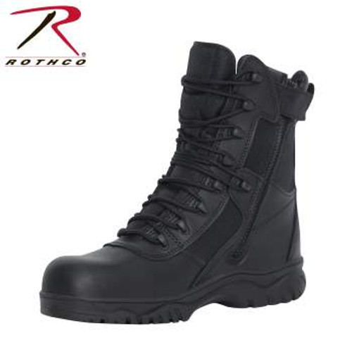 Rothco 8 Inch Forced Entry Tactical Boot With Side Zipper & Composite Toe