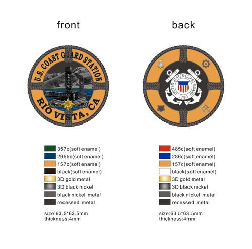 USCG Sta Rio Vista Challenge Coin