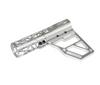 Skeletonized Pistol Brace Stabilizer, Silver Anodized Aluminum