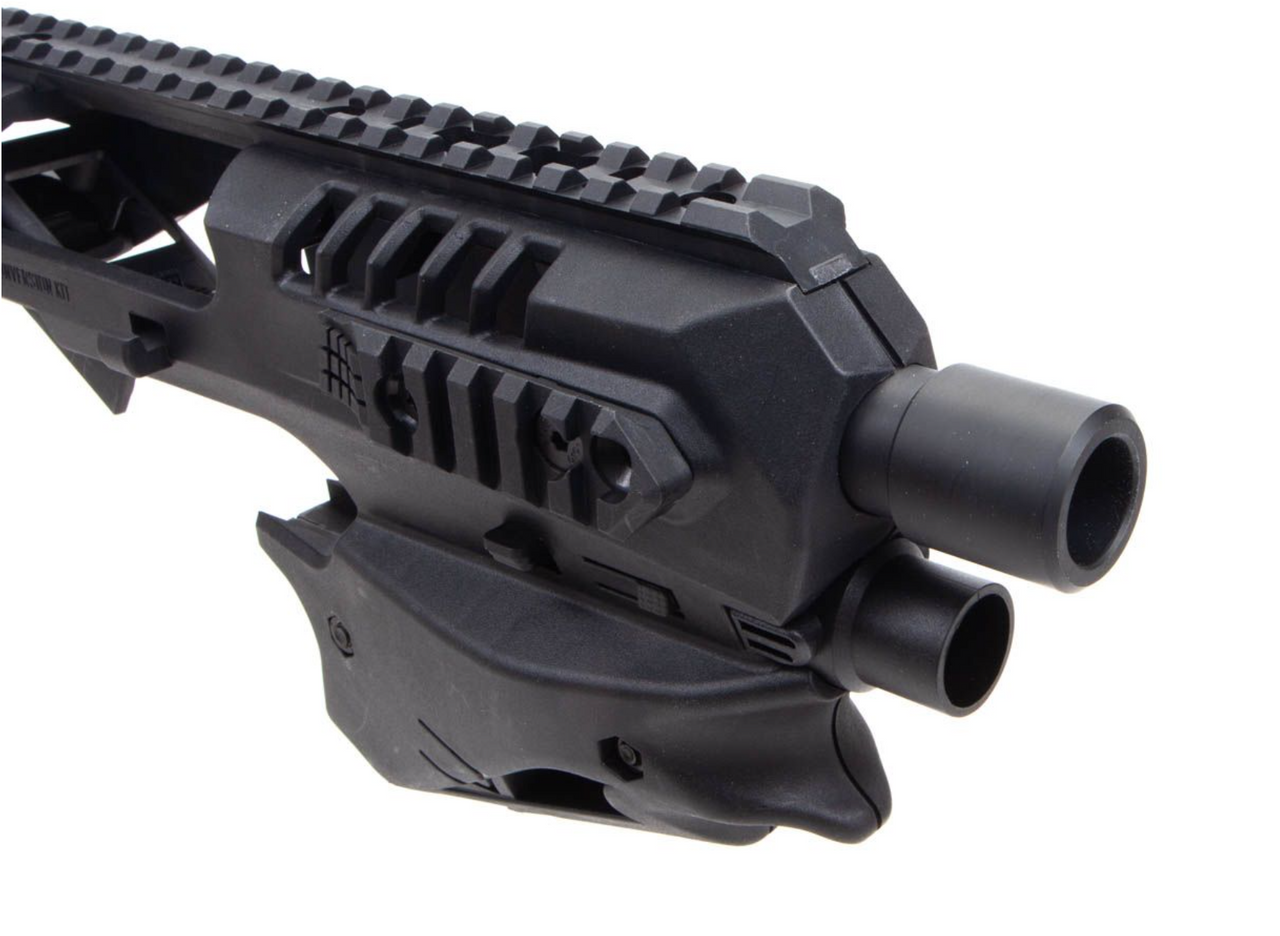 Close-up front view of the MCK Micro Conversion Kit in black.